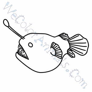 free angler fish coloring pages - photo#25