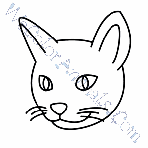 Cat Head Coloring Page Cat Face Pattern Coloring Page - Free ...