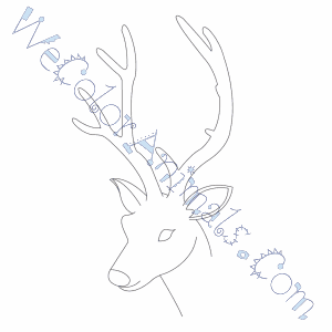 Deer head coloring pages | Coloring pages to download and print | 300x300
