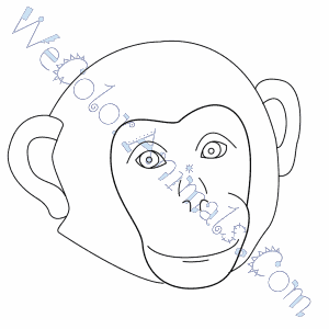 Monkey Face Coloring Pages