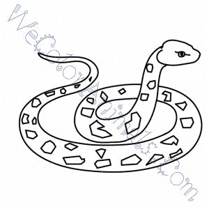 Get Rattlesnake Coloring Page
