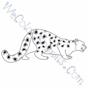 snow leopard coloring pages. Black Bedroom Furniture Sets. Home Design Ideas