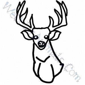 Deer Head Coloring Pages