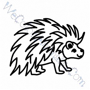 Porcupine Coloring Pages