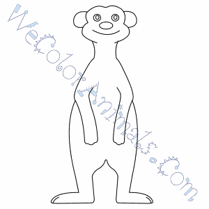 meerkat coloring pages
